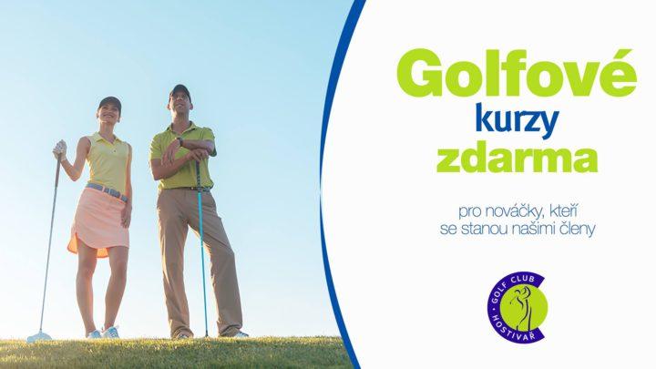 Letní golfové kurzy zdarma v Hostivaři